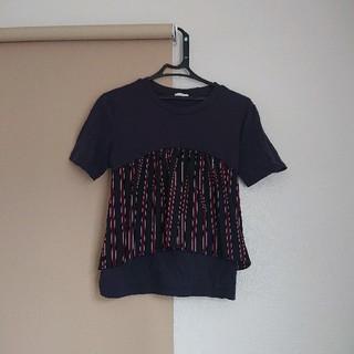 ジーユー(GU)のTシャツ カットソー トップス ビスチェ風 半袖 レディース GU(Tシャツ(半袖/袖なし))