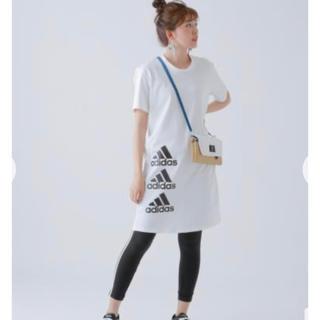 adidas - adidas 3連ロゴ Tシャツワンピ