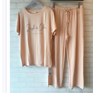 gelato pique - 新品☆ シンプルレーヨンロゴTシャツ&ロングパンツ