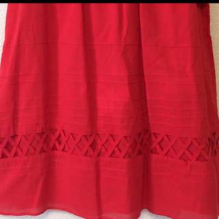 シビラ(Sybilla)のSybilla☆未使用赤いスカート(ひざ丈スカート)