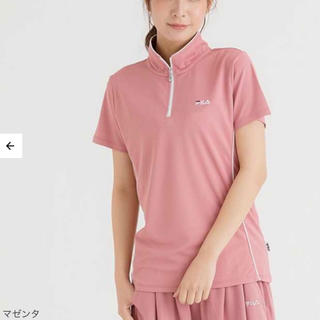 フィラ(FILA)のFILA レディース Tシャツ 半袖 ウェア ハーフジップ(ウェア)