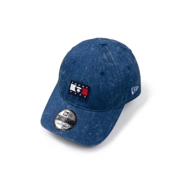 A BATHING APE(アベイシングエイプ)のtommy jeans × aape NEW ERA CAP BLUE メンズの帽子(キャップ)の商品写真