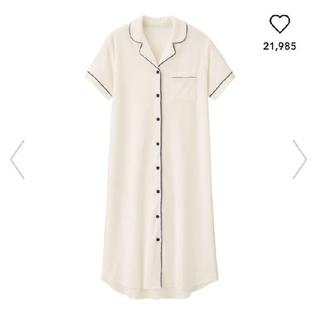 ジーユー(GU)の人気サイズ! 白色♪ GU SABON コラボ ミントパジャマ ワンピース XL(パジャマ)