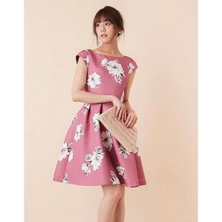 トランテアンソンドゥモード(31 Sons de mode)の[美人百花掲載] 大花柄フィット フレアワンピース ドレス(ひざ丈ワンピース)