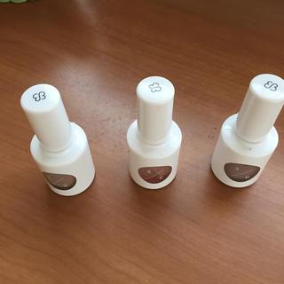 uka カラーベース3本セット(ネイルトップコート/ベースコート)