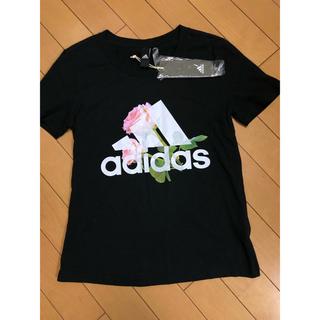 adidas - 【新品タグ付き】adidas Tシャツ レディース 花柄 黒