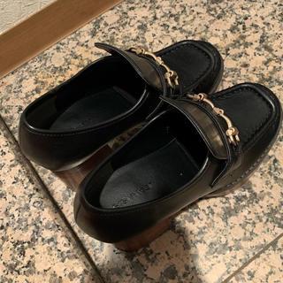 ジーナシス(JEANASIS)の期間限定値下未使用☆完売品ローファー黒(ローファー/革靴)
