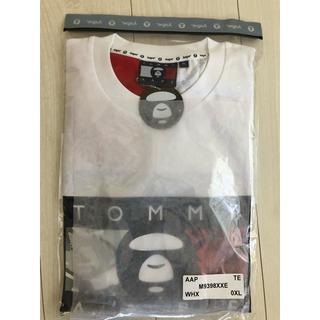 アベイシングエイプ(A BATHING APE)のAAPE X TOMMY JEANS FLAG TEE WHITE XL(Tシャツ/カットソー(半袖/袖なし))