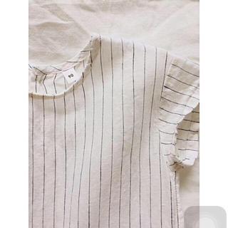 ムジルシリョウヒン(MUJI (無印良品))の無印良品 フレンチリネン 半袖ワンピース 90cm(ワンピース)