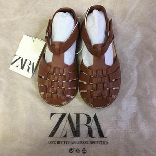 ザラキッズ(ZARA KIDS)の【新品】ザラベビー ZARA サンダル  15センチ(サンダル)