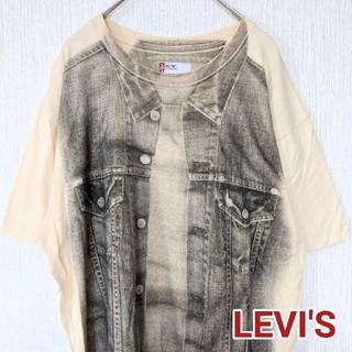 Levi's - LEVI'S リーバイス 半袖Tシャツ クリームイエロー メンズLサイズ