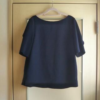 プラステ(PLST)のPLST 半袖カットソー ネイビー(カットソー(半袖/袖なし))
