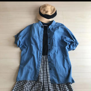 ジーユー(GU)のGU ビッグシルエットデニムシャツ(シャツ/ブラウス(半袖/袖なし))