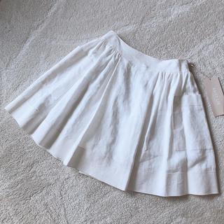 フォクシー(FOXEY)の値下げ未使用)FOXEY DAISY LIN リネンスカート 40(ひざ丈スカート)
