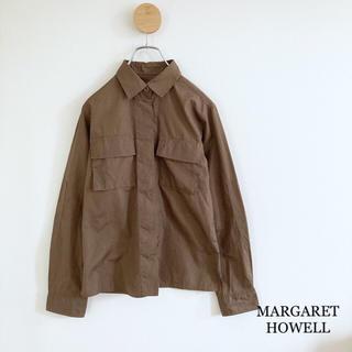 MARGARET HOWELL - マーガレットハウエル・コットンシャツ シャツジャケット・カーキブラウン