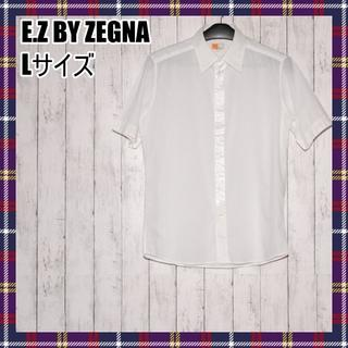 エルメネジルドゼニア(Ermenegildo Zegna)の【レア】E.Z BY ZEGNA イージーバイゼニア 半袖シャツ Lサイズ(シャツ)