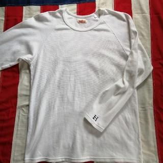 ハリウッドランチマーケット(HOLLYWOOD RANCH MARKET)のハリウッドランチマーケット・ストレッチフライス ロングスリーブ ホワイト(Tシャツ/カットソー(七分/長袖))
