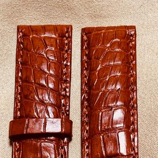 ブライトリング(BREITLING)の本物クロコダイルスキン腕時計用ベルト20mm -18mmレッドブラウン#2172(レザーベルト)