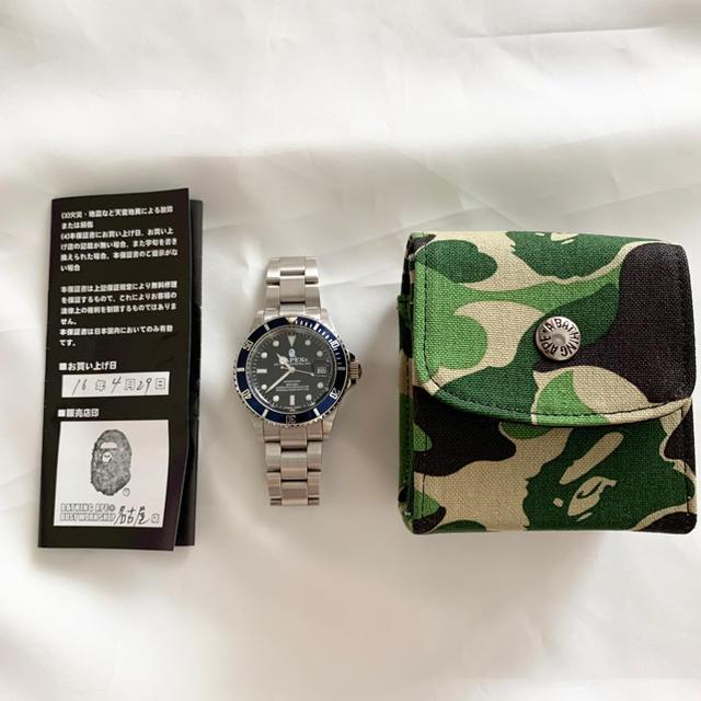 A BATHING APE(アベイシングエイプ)のアベイシングエイプ BAPEX サルマリーナ ネイビー メンズの時計(腕時計(アナログ))の商品写真