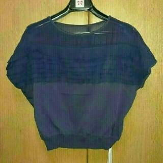 ランバンオンブルー(LANVIN en Bleu)の新品✨ランバン オン ブルー✨トップス(カットソー(半袖/袖なし))