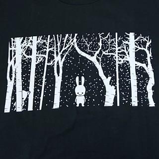 キューン(CUNE)の美品 メンズ キューン 雪 Tシャツ Lサイズ ブラック CUNE(Tシャツ/カットソー(半袖/袖なし))