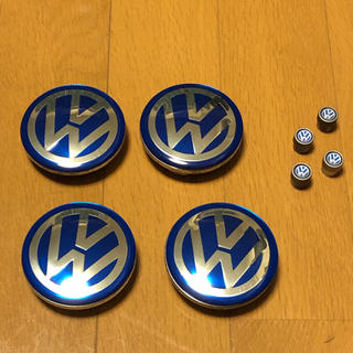 フォルクスワーゲン(Volkswagen)のVW ホイール センターキャップ 65mm エアバルブキャップ(車外アクセサリ)