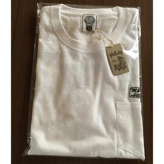 エムアンドエム(M&M)の新作 新品未使用 エムアンドエム M&M   Tシャツ 白L(Tシャツ/カットソー(半袖/袖なし))