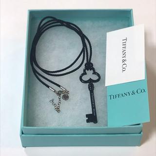 ティファニー(Tiffany & Co.)のティファニー キーネックレス ブラック 極美品 (ネックレス)