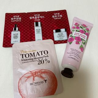 ザフェイスショップ(THE FACE SHOP)の【新品・未使用】韓国 サンプル+ハンドクリーム AGE(ハンドクリーム)