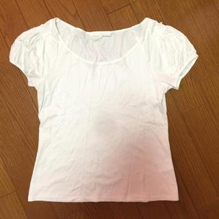 アナイ(ANAYI)のANAYI フリル白Tシャツ(Tシャツ(半袖/袖なし))