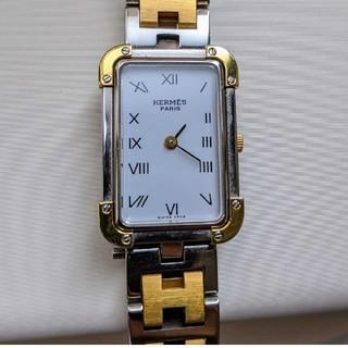 Hermes - HERMES クロアジュール 腕時計 ステンレススチール SSxGP 中古