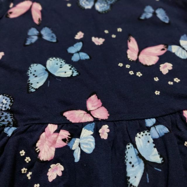 H&M(エイチアンドエム)のH&M 女のコ 蝶ワンピース 11120 キッズ/ベビー/マタニティのキッズ服女の子用(90cm~)(ワンピース)の商品写真