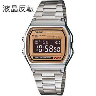 カシオ(CASIO)の液晶反転❗️チープカシオ CASIO A-158WEA-9JF ゴールド(腕時計(デジタル))