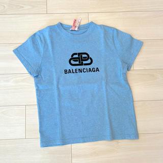 バレンシアガ(Balenciaga)のバレンシアガ Tシャツ トップス 水色 BB ロゴ 2020 2020年 今期(Tシャツ(半袖/袖なし))