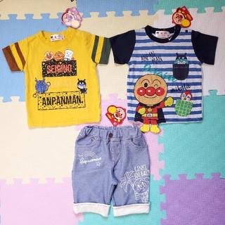 アンパンマン(アンパンマン)の【新品】アンパンマンのTシャツ&ズボンの3点セット☆80サイズ(Tシャツ)