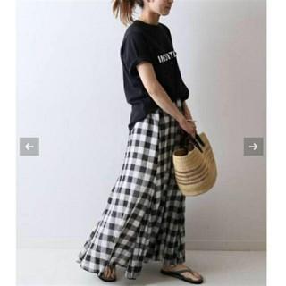 フレームワーク(FRAMeWORK)のフレームワーク☆高山都 チェックブロックスカート 36(ロングスカート)