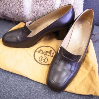 Hermes - 正規品☆エルメス パンプス 靴 コンスタンス ブラウン バッグ 財布 小物