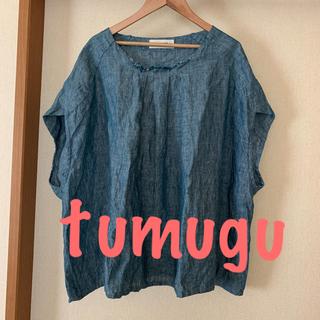 ツムグ(tumugu)のツムグ  『麻100%ブラウス』TB16242(シャツ/ブラウス(半袖/袖なし))