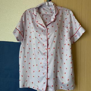 ジーユー(GU)のGU パジャマ いちご柄 パープル 上下セット(パジャマ)