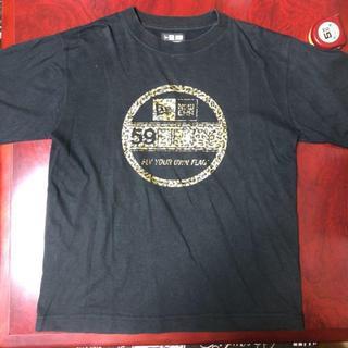 ニューエラー(NEW ERA)のnewERA Tシャツ 黒 ブラック 豹柄(Tシャツ/カットソー(半袖/袖なし))