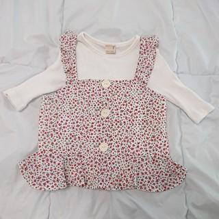 プティマイン(petit main)のプティマイン(petitmain)ビスチェ付きリブカットソー  120(Tシャツ/カットソー)