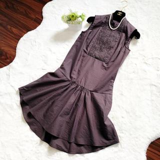 ブルネロクチネリ(BRUNELLO CUCINELLI)の美品 ブルネロクチネリ   モニーレ シャツ ワンピース ドレス(ひざ丈ワンピース)