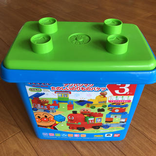 バンダイ(BANDAI)のアンパンマン ブロックラボ 乗り物バケツとパトカーセット(知育玩具)
