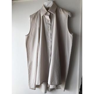 マルタンマルジェラ(Maison Martin Margiela)のメゾンマルジェラ ノースリーブブラウス 36(シャツ/ブラウス(半袖/袖なし))