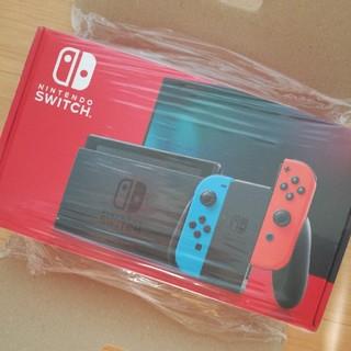 ニンテンドースイッチ(Nintendo Switch)の新品 任天堂Switch スイッチ 本体 ネオンレッド ニンテンドー 新型(家庭用ゲーム機本体)