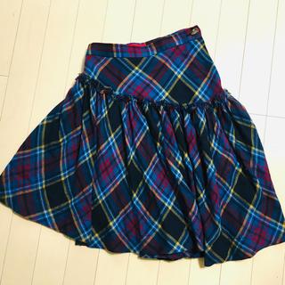 ヴィヴィアンウエストウッド(Vivienne Westwood)のヴィヴィアン  アシンメトリースカート(ひざ丈スカート)