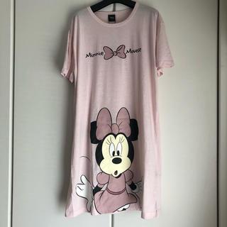 ディズニー(Disney)の新品タグ付き ミニー 膝丈 ワンピース 半袖 ピンク(ひざ丈ワンピース)