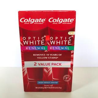 クレスト(Crest)のColgate Optic white renewal 2本セット(歯磨き粉)