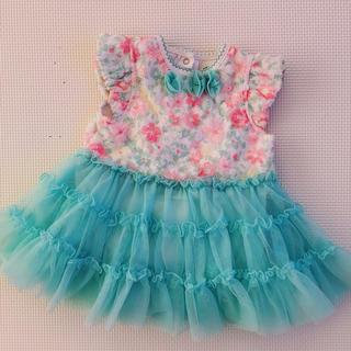 リトルミー(Little Me)の美品 リトルミー ベビーチュールワンピース ロンパース ベビー服(ロンパース)