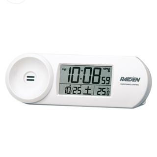 セイコー(SEIKO)のセイコークロック 大音量 目覚まし時計 電波時計 デジタル 温度計 ライデン 白(置時計)